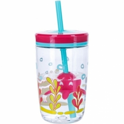 TUMBLER CONTIGO FLOATING STRAW BPA FREE 470ML SQUID ON STRAW 1000-0773
