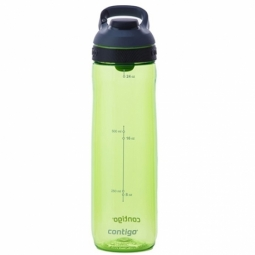 WATER BOTTLE CONTIGO CORTLAND BPA FREE W/AUTOSEAL LID 720ML CITRON/GREY 1000-0461