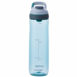 WATER BOTTLE CONTIGO CORTLAND BPA FREE W/AUTOSEAL LID 720ML GRAYED JADE/WHITE 1000-0464