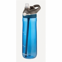 WATER BOTTLE CONTIGO ASHLAND BPA FREE W/AUTOSPOUT LID 720ML MONACO/GREY 1000-0455