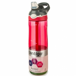 WATER BOTTLE CONTIGO ASHLAND BPA FREE W/AUTOSPOUT LID 720ML SANGRIA/WHITE 1000-0456