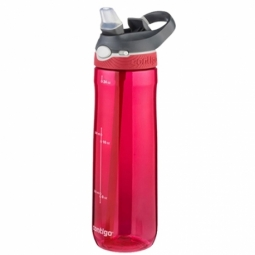 WATER BOTTLE CONTIGO ASHLAND BPA FREE W/AUTOSPOUT LID 720ML RED/GREY 1000-0458