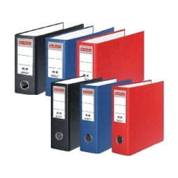 BOX FILE HERLITZ PP A5 80MM OBLONG RED 10842342