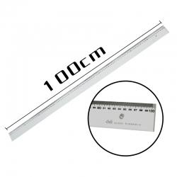 Ruler Deli Acrylic 100Cm Multi Functional 8200