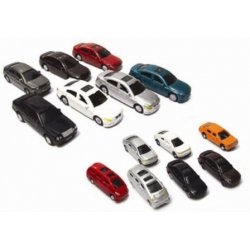 CAR MODELINE WITH LIGHT 1/100 7/PACK FC06