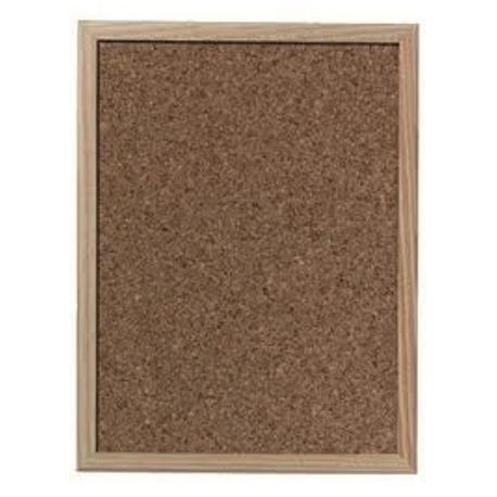 Cork Bulletin Board Herlitz Wood Frame 40X60Cm 1600030