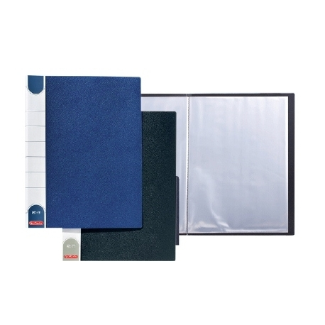 Display Book Herlitz A4 20 Pockets Black 10012631