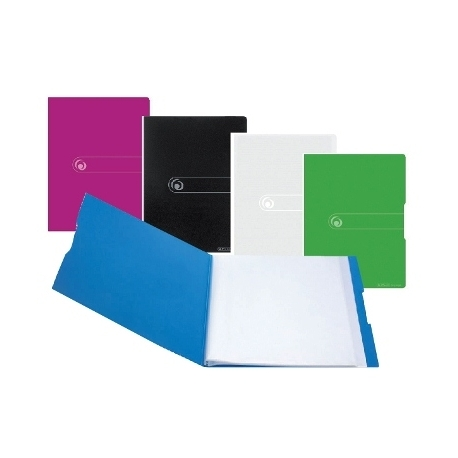 Display Book Herlitz Pp A4 20 Pockets Berry Opaque 11226180