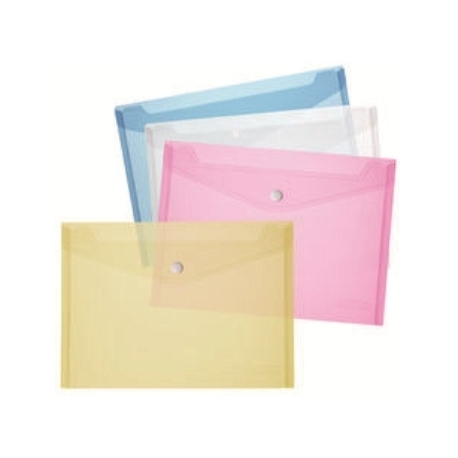 File Envelope Herlitz Pp A4 W/Snap Clos Crystal Blue 10657948