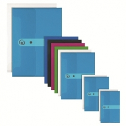 FILE ENVELOPE HERLITZ PP A4 W/SNAP BERRY OPAQUE 11217122