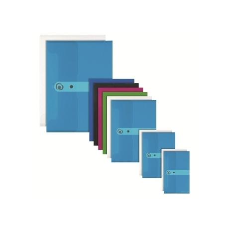 File Envelope Herlitz Pp A4 Blue Transparent 11206687