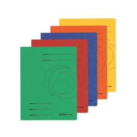 Folder With Flaps Herlitz Cardboard A4 320G Orange 11076478