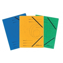 Folder W/3 Flaps And Elastic Herlitz Colorspan A4 Black 11199544