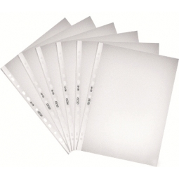 FOLDER PUNCHED HERLITZ A4 100PCS/PACK EMBOSSED CLEAR 05814108