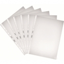 Folder Punched Herlitz A4 100/Pack Polybag Embossed Clear 5814108