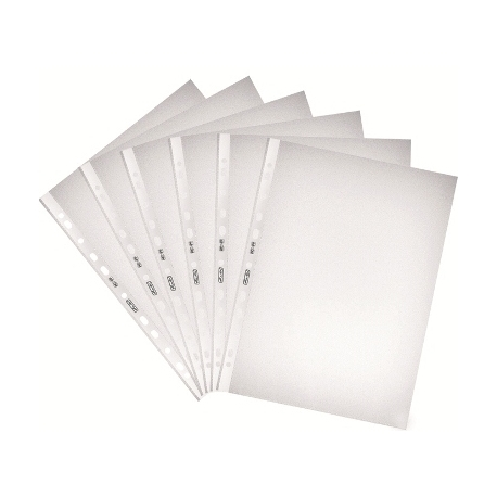 Folder Punched Herlitz Pp A4 10/Pack Embossed 5814009