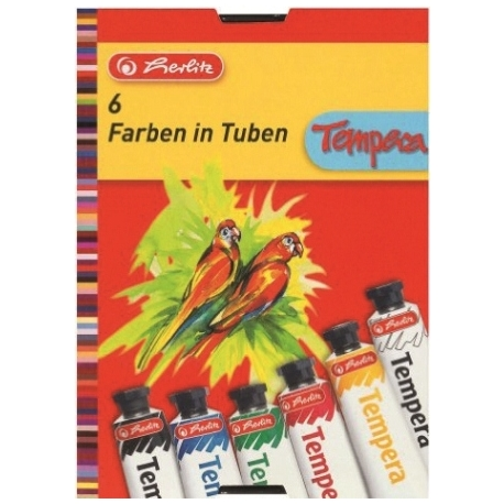 Gouache Herlitz Tempera 6 Colors 08643041
