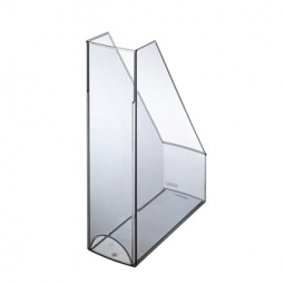 MAGAZINE RACK HERLITZ POLISHED TRANSP. GREY 10778546