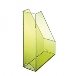 MAGAZINE RACK HERLITZ POLISHED TRANSP. L.GREEN 10778579