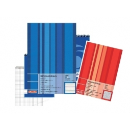 Writing Pad Herlitz A5 Squared 100Sh Punched 00311530
