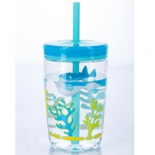 TUMBLER CONTIGO FLOATING STRAW BPA FREE 470ML SHARK ON STRAW 1000-0772