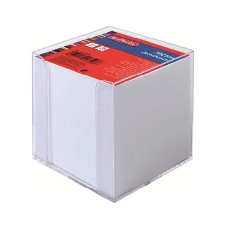 Memo Holder Herlitz Plastic 9X9Cm 700Sh Transparent 10410801