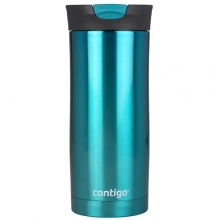MUG CONTIGO HURON STAINLESS STEEL DOUBLE WALL VACUUM INSULATED 470ML BISCAY BAY 1000-0552