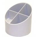 Pen Holder Herlitz 4 Compartments Grey 10866754