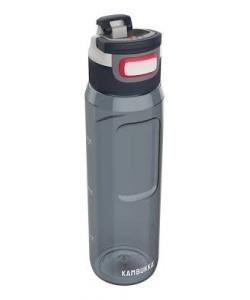 Water Bottle Kambukka Elton Bpa Free W/3In1 Snapclean Lid 1L Graphite 11-03011
