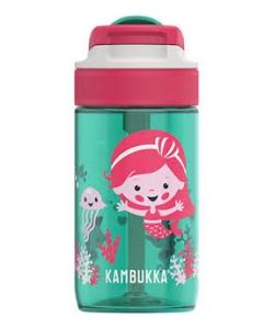 Water Bottle Kambukka Lagoon Bpa Free W/Spout Lid 400Ml Ocean Mermaid 11-04014