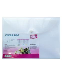File Envelope Flexoffice A4 W/Buttom Clear 0.17mm Fo-Cbf05
