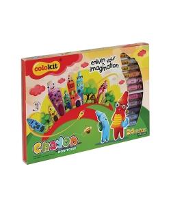 Wax Crayon Flexoffice Colokit 24/Pack Crc09