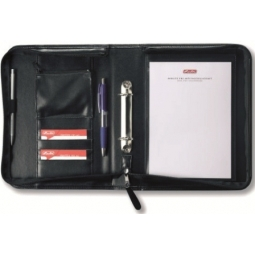 Padfolio Herlitz A5 With Ring Binder And Zipper 05541685