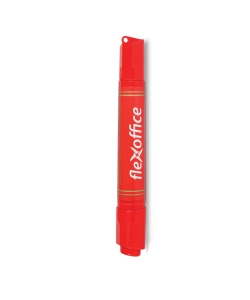 Marker Permanent Flexoffice Chisel Double Red Fo-Pm04