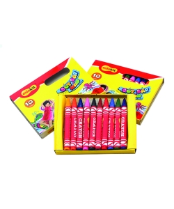 Wax Crayon Flexoffice Colokit Short 10/Pack Cr-C015