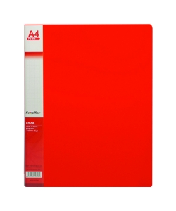 Display Book Flexoffice PP A4 40 Pockets Red Fo-Db02
