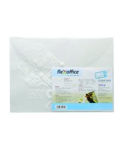 File Envelope Flexoffice F/C W/Buttom Clear 0.18mm Fo-Cbf04