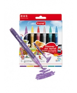 Felt Pen Bruynzeel Glitter Points Set 6 Tips 7945K06C