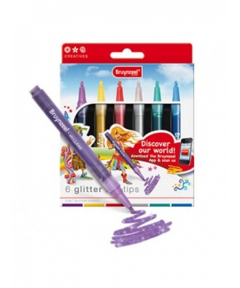 Felt Pen Bruynzeel Glitter Points Set 6 Tips 7945K06C