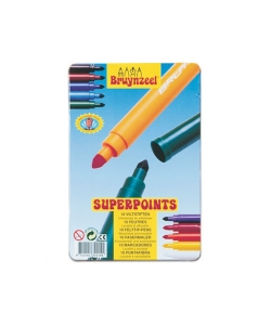 Felt Pen Bruynzeel Super Points Tin 10 Tips 3001M10