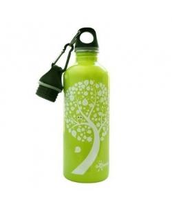 Water Bottle Cheeki Green Owl