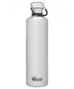 Water Bottle Cheeki Insulated 1L Silver